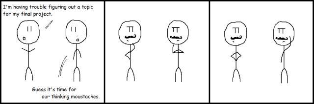 12-4 Thinking Moustaches